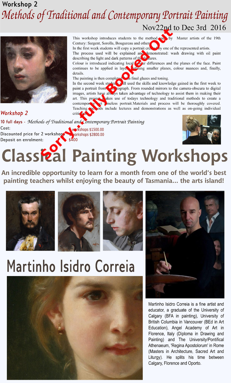 Martinho Correia Leoni Duff workshop fully booked